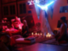 Karyna SH'ha giving sound and light disp