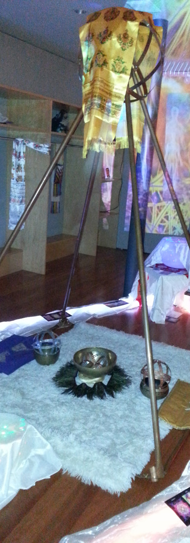 23 Goddess Yoni Womb Sacred Geometry Great Barrington Mass. Installation 2015