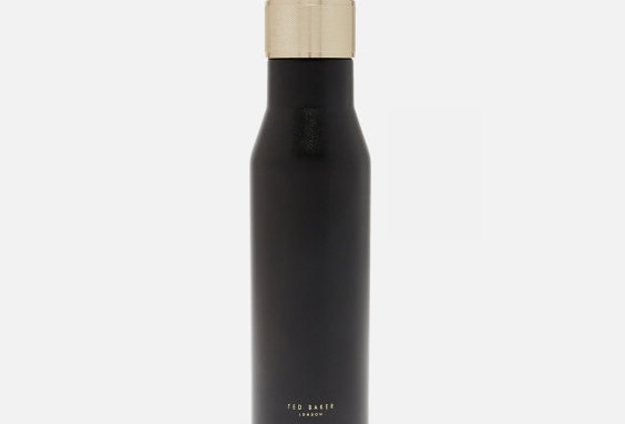 TED BAKER WATER BOTTLE BLACK