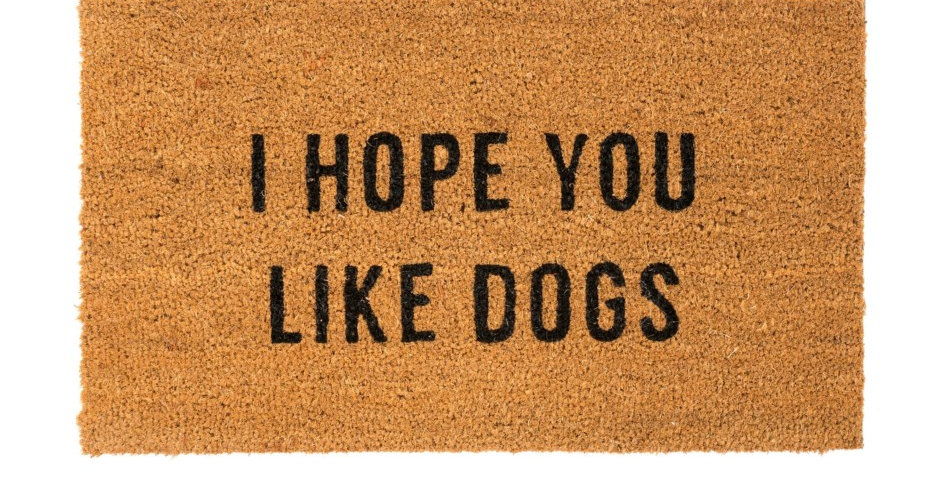 I HOPE YOU LIKE DOGS MAT
