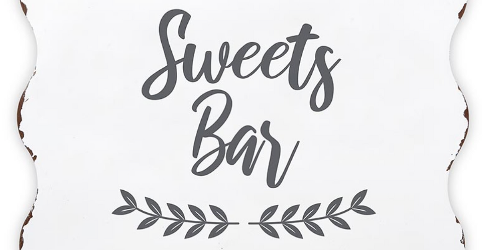 SWEETS BAR SIGN ~ ADD ON ITEM