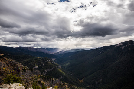 Rain Heading Toward Yellowstone