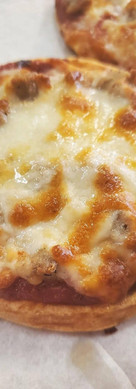 Sausage Pizza with Chaffle Crust
