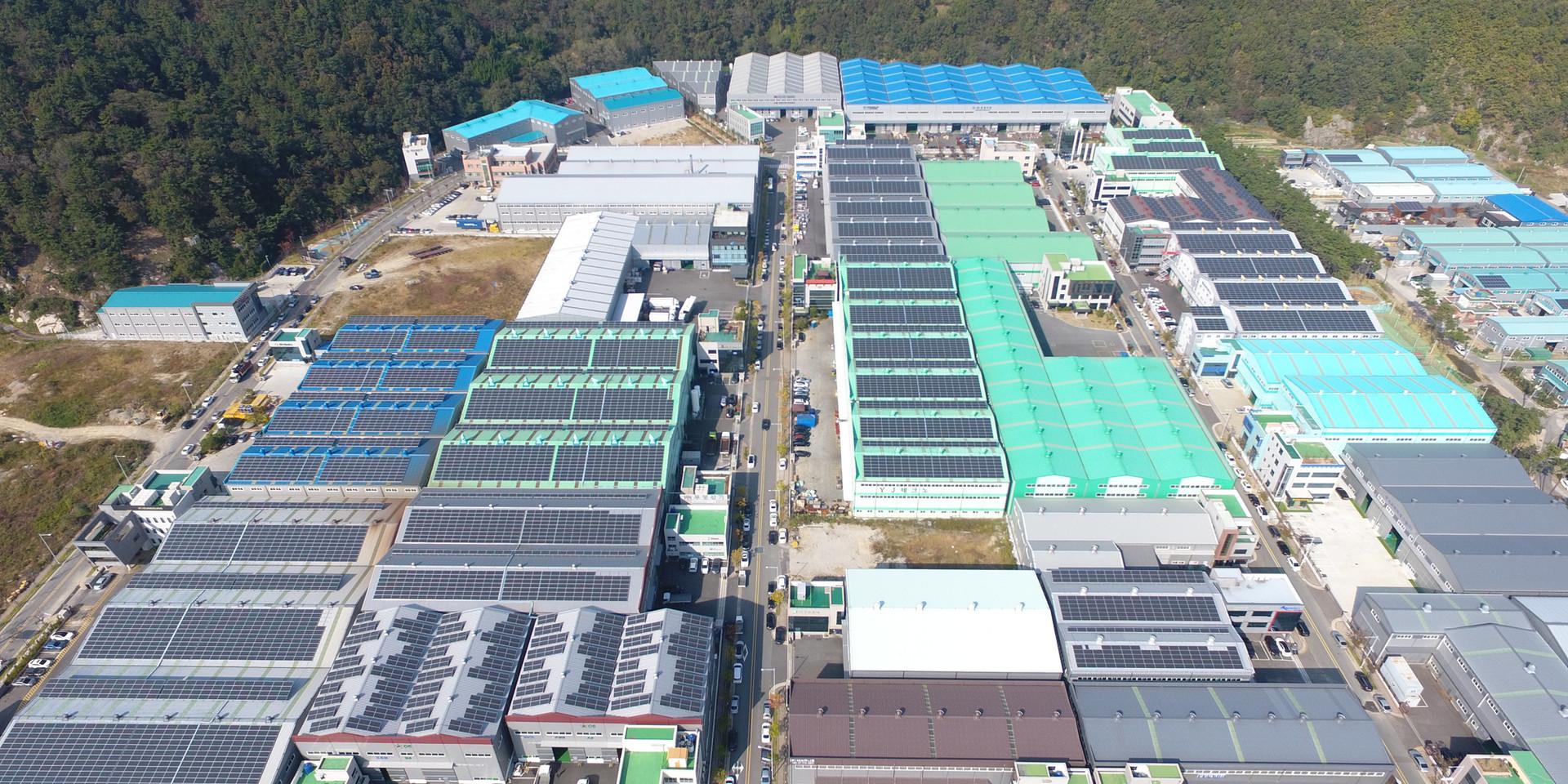 부산여성CEO전용산단 태양광발전소