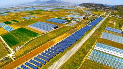 경남 김해시 한림면 한국철도시설공단 폐선부지 태양광발전소