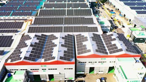 오성엔텍 태양광발전소