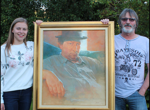 The portrait of Iwan Llwyd