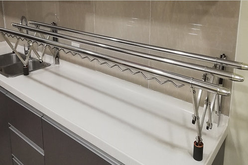 2.0 M Stainless Steel, Wall Mounted Clothes Rack