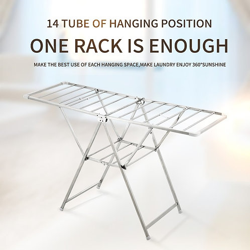 Stainless Steel, Foldable, Standing clothes rack