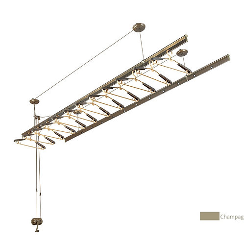1.5 M Ceiling mounted, Manual Pulley Clothesline