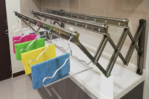 2.0 M Aluminum Wall Mounted Clothes Drying Rack