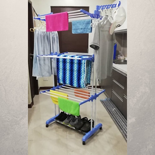 3 Layer Foldable, Standing Clothes Rack