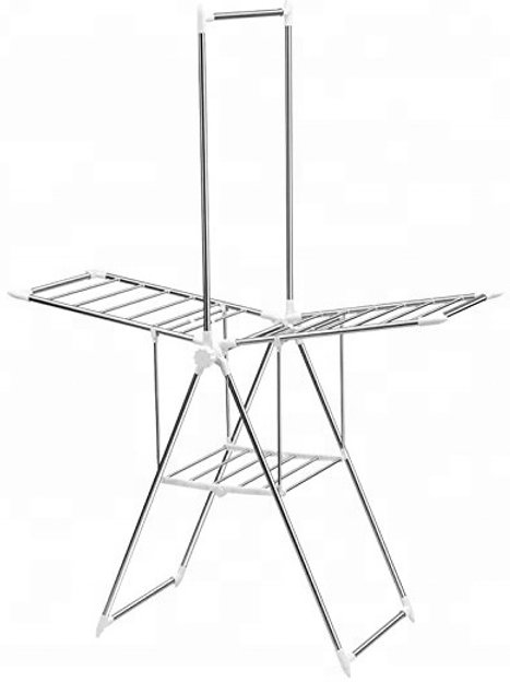 Stainless Steel, Butterfly-style Clothes Rack