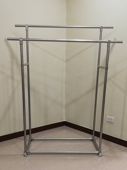 Stainless Steel Double Pole Clothes/Garment Rack