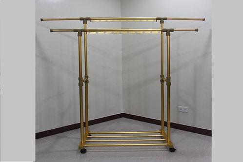 Double Pole, Retractable standing clothes rack