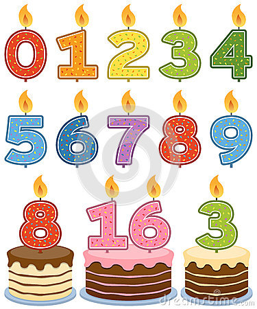 Number Candle (per candle)