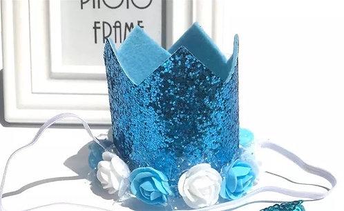 Felt sparkly crown hat
