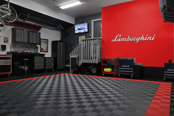 Lamborghini Garage Sign 8 Feet Long Brushed Silver