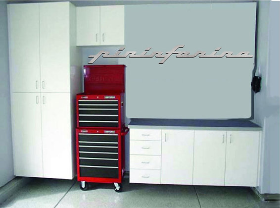 Pininfarina Garage Sign 6 Feet Long Brushed Silver