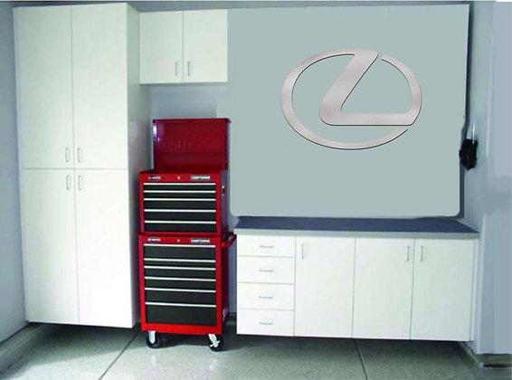 Lexus Logo Garage Sign 3 Feet Long Brushed Silver