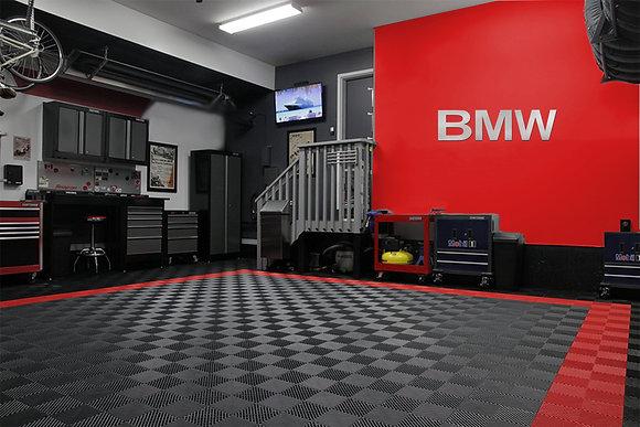 BMW Garage Sign 4 1/2 Feet wide Brushed Silver