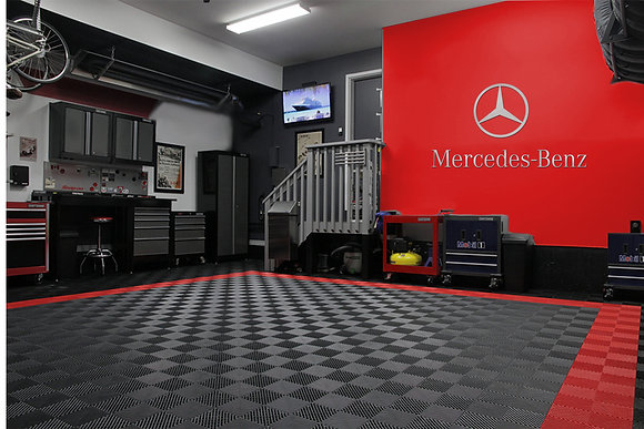 Mercedes Benz Star & Text combo Garage Sign 6 Feet