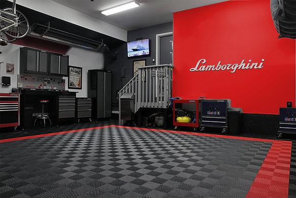 Lamborghini Garage Sign 5 Feet Long Brushed Silver