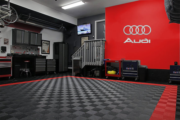 "Audi & Rings Logo Combo 42"" wide"