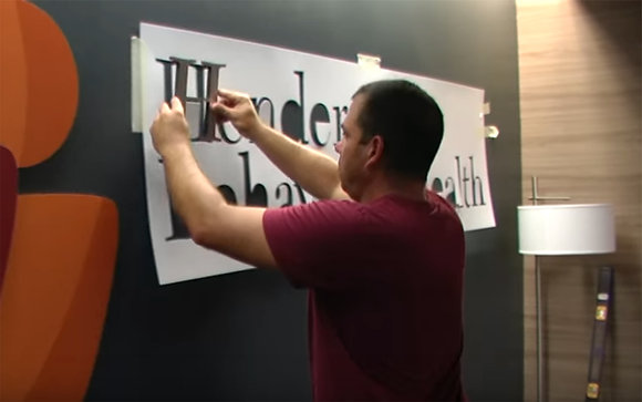 Install Pattern for Brushed Silver Signs