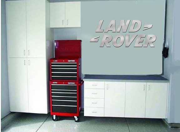 Land Rover Garage Sign 4 Feet Long Brushed Silver