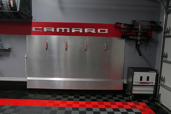 CAMARO Garage Sign 7 Feet Long Brushed Silver