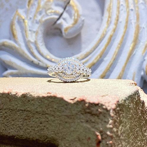 14k White Gold Diamond Ring 1.00 ct