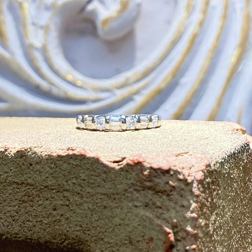 14k White Gold Diamond Wedding Band .50ct