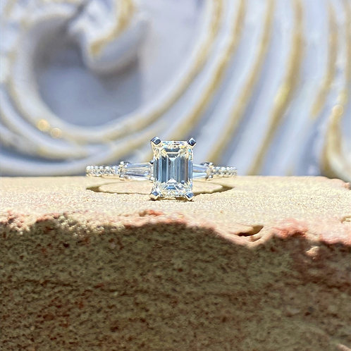 1.01 ct Emerald Cut Diamond Engagement Ring