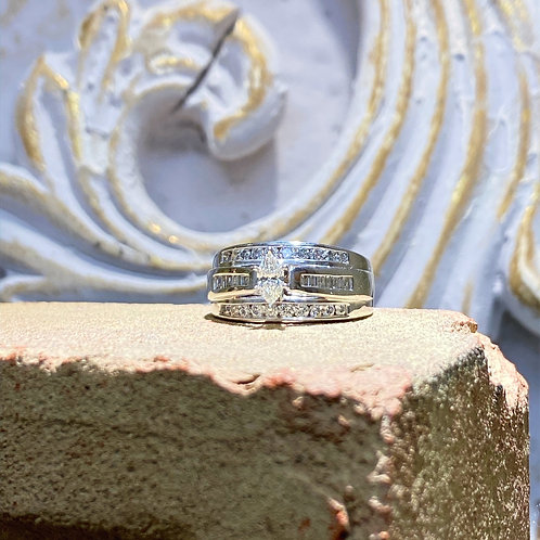 Marquise Diamond Engagement Ring 1.00ct tw.