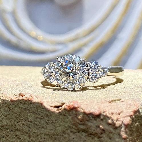 Platinum Diamond Halo engagement ring 1.00 ct. tw.