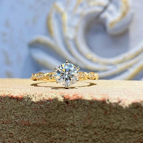 1.12 ct Round Diamond Engagement Ring