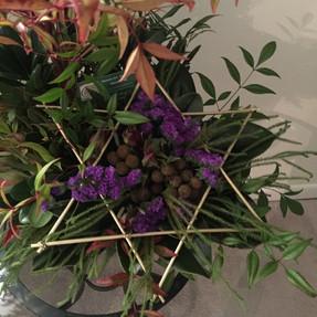 Bar mitzvah flower arrangment