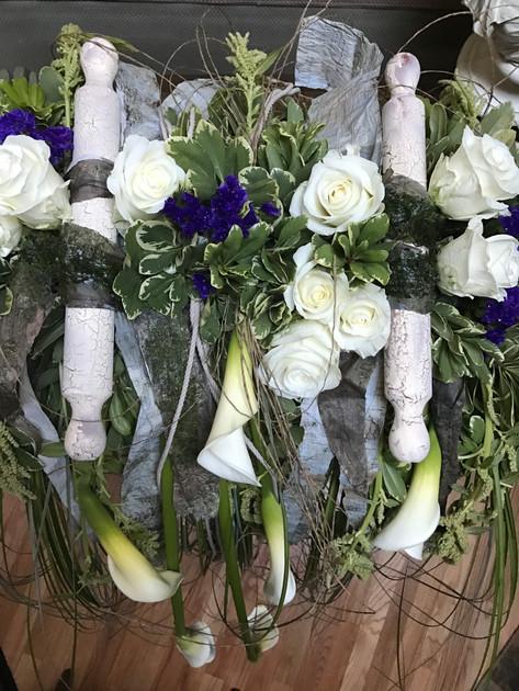 Bar Mitvzah flower arrangment