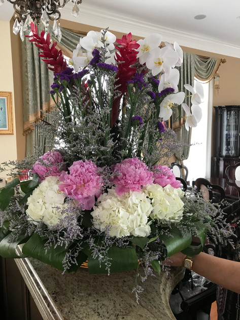 Birthday flower basket