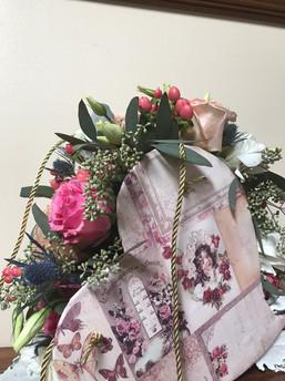 Valentine's day heart flower arrangment