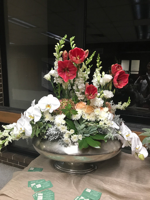 Birthday flower centerpiece