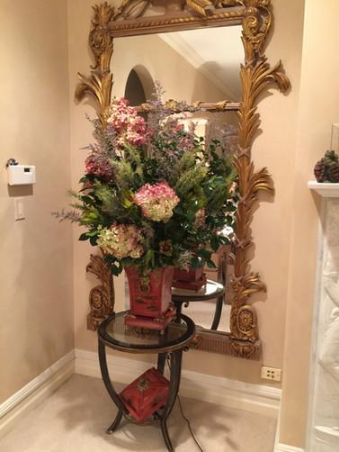 Interior decor flower arrangment