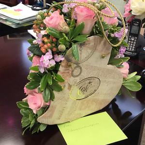 Heart flower arrangement