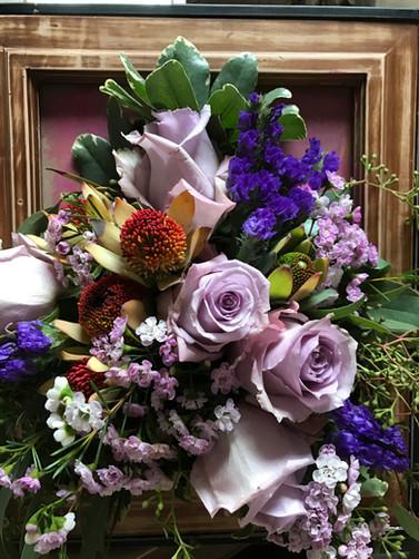 """Framed art"" flower arrangment"