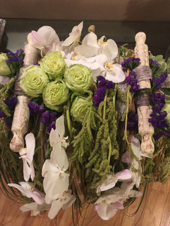 Torah flower arrangement