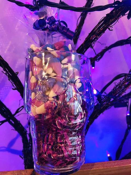 Grape Soda Candy Corn Skull Mug