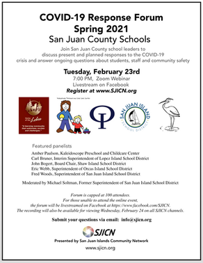 COVID-19 Response Forum #2: San Juan Islands Schools February Forum