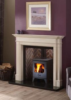 kensington limestone surround & Scene stove.JPG