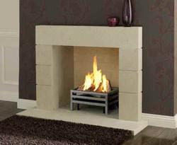 Priory Bath Stone Fireplace.